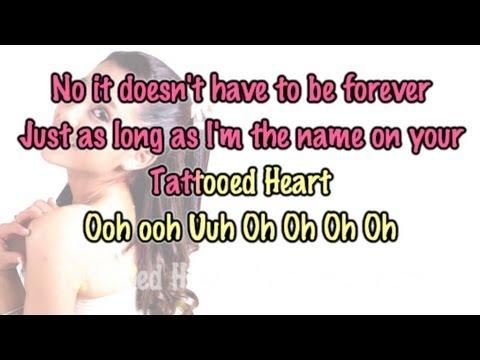 Ariana grande tattooed heart piano karaoke for Tattooed heart ariana grande