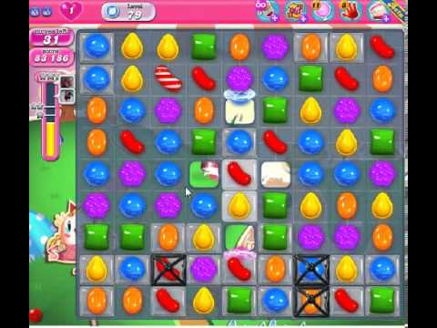How to beat Candy Crush Saga Level 79 - 2 Stars - No Boosters - 165