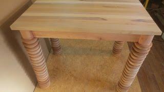 Mesa de madera reciclando