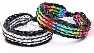 Twin Stripe Bracelet On The Rainbow Loom