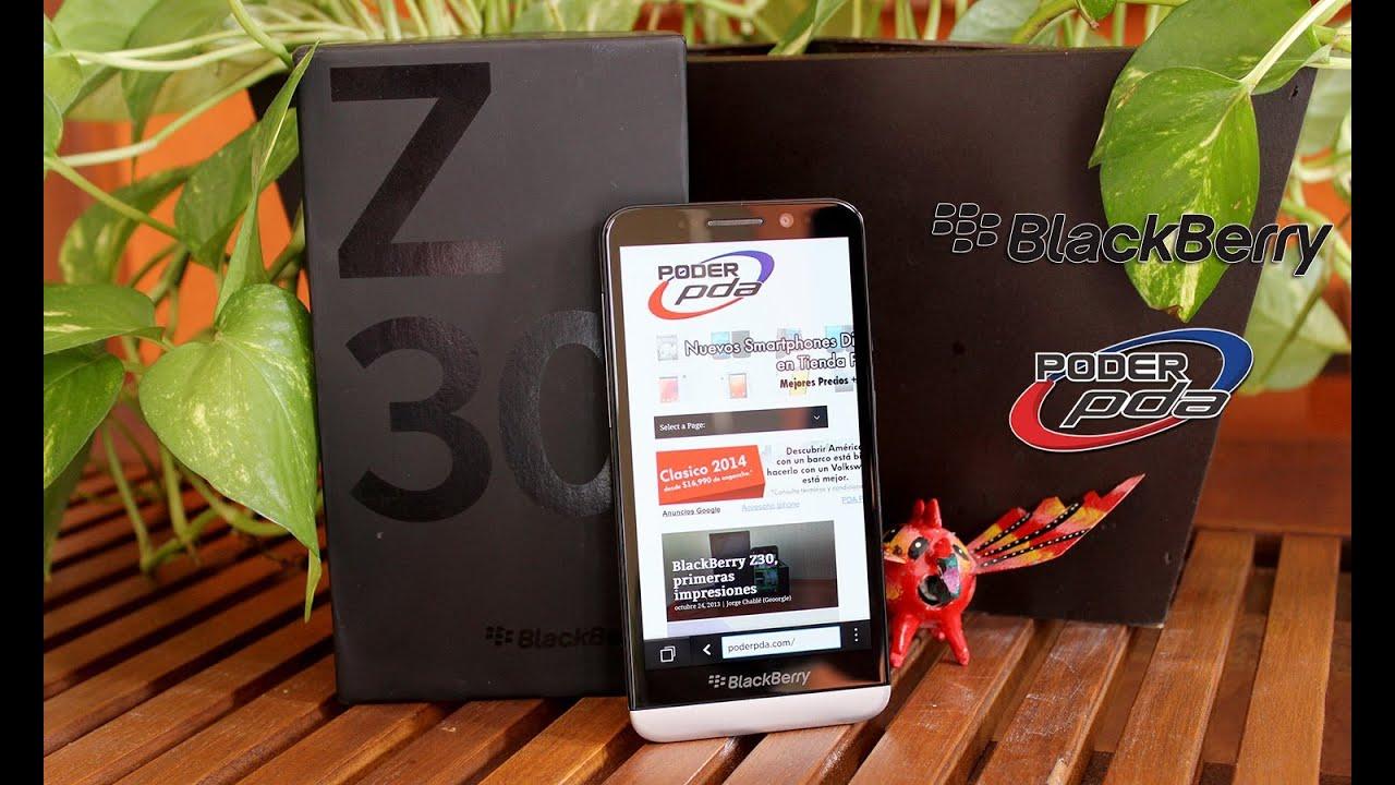 Blackberry z30 an lisis en espa ol hd youtube