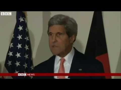 BBC News   Afghan presidential candidates agree vote audit