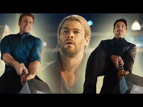 Avengers Attempt To Lift Thor's Hammer In New Age of Ultron Clip