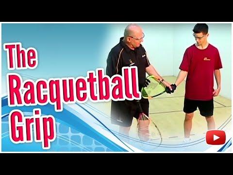 Beginning Racquetball -  The Grip featuring Coach Jim Winterton