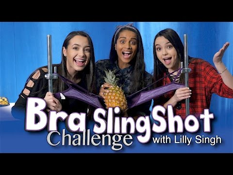 Bra Slingshot Challenge with Lilly Singh