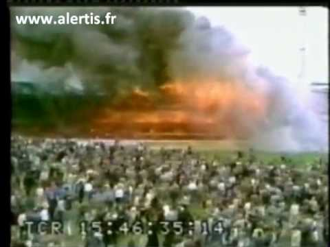 incendie match foot évacuation stade bradford 1985