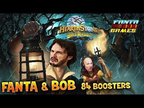 Hearthstone, le Bois Maudit - 84 BOOSTERS - Fanta et Bob Découverte