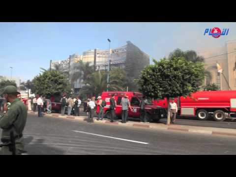 بالفيديو : حريق مهول يلتهم مقر الضحى بالدارالبيضاء