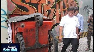 Ông Đoàn Ngọc Hải bật tung xe rác thu thùng nước đá ngụy trang trên vỉa hè - Tin Tức Mới