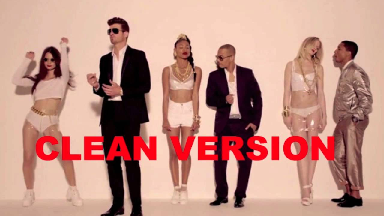 Robin Thicke - Blurred Lines Clean Radio Edit - YouTube