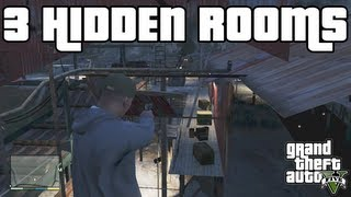 GTA 5 Tricks Inside 3 SECRET HIDDEN Rooms! Grand Theft