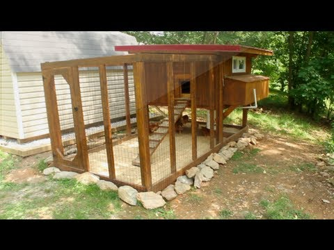 Backyard chickens chicken coop tour easy to clean youtube for Easy way to build a chicken coop