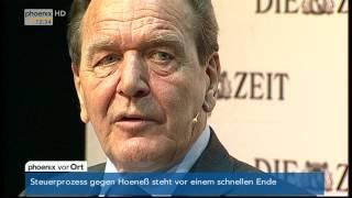 ZEIT-Matinee, Gerhard Schröder, Josef Joffe, Jochen Bittner, Diskussion, 2014