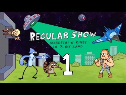 Regular Show Mordecai and Rigby In 8-Bit Land (3DS) -  Walkthrough - Part 1