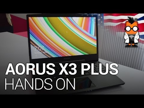 """AORUS X3 Plus 13.9"""" QHD Gaming Notebook Hands On"""
