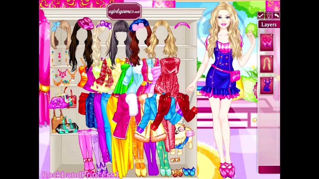 online hot barbie games
