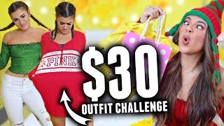 $30 OUTFIT SHOPPING CHALLENGE! Holiday Edition with CloeCouture!