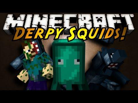Minecraft Mod Showcase : DERPY SQUIDS!