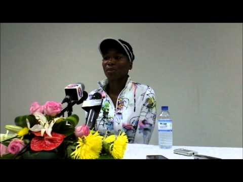 Venus Williams press conference clip after winning the 2014 Dubai Duty Free Tennis Championships