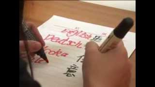 Chinese Woman Who Can Write With BOTH Hands At The SAME