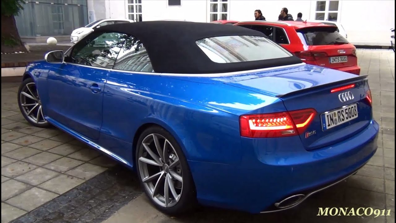 2014 audi rs5 cabrio start up sound driving youtube. Black Bedroom Furniture Sets. Home Design Ideas
