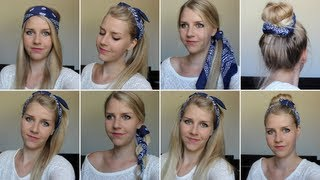 13 Cute & Easy Bandana Hairstyles! - Rockabyebeauty