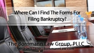 Where Can I Find The Forms For Filing Bankruptcy?