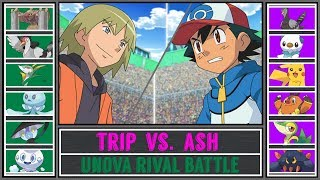 Ash vs. Trip (Pokémon Sun/Moon) - Unova Rival Battle