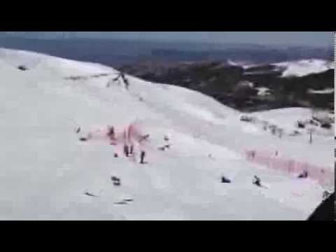 Eva Samkova - WC Sierra Nevada 2013 Crash!
