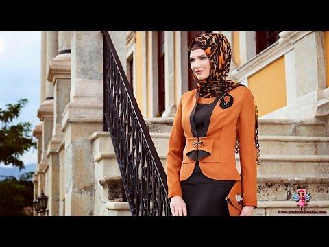 ازياء محجبات تركية شتاء 2014 جديدة وانيقة