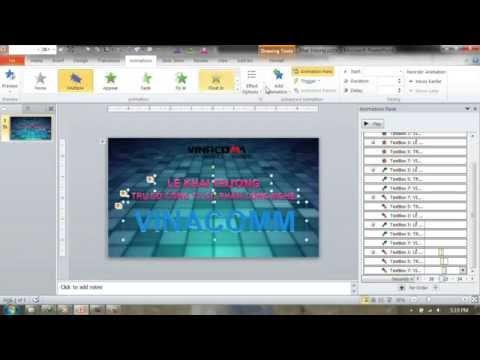 Slide powerpoint chuyên nghiệp - Làm nền động bằng video