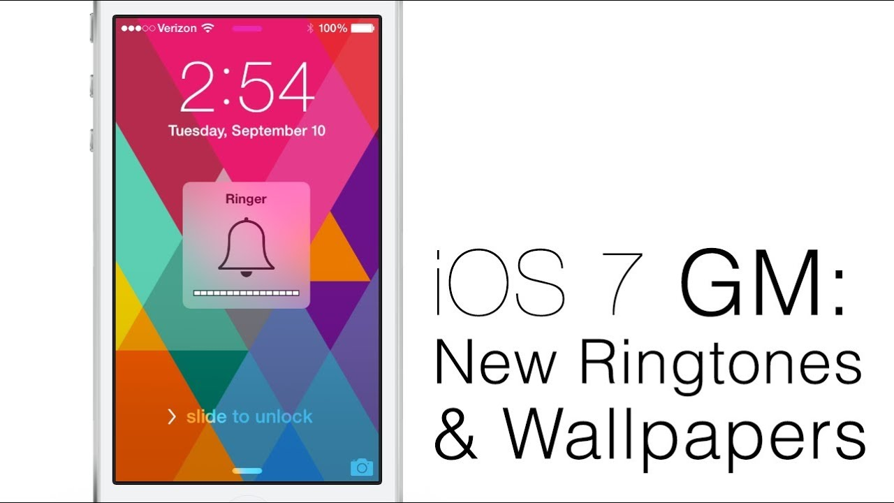 hands on ios 7 gm new ringtones alert tones sounds and