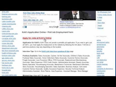 online job application kohls online application