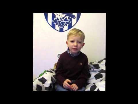 West Bromwich Albion super fan 5 year old Noah memorises the entire squad