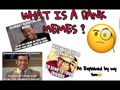 WHAT IS A DANK MEMES ? EXPLAINED BY SON AND WIKIPEDIA