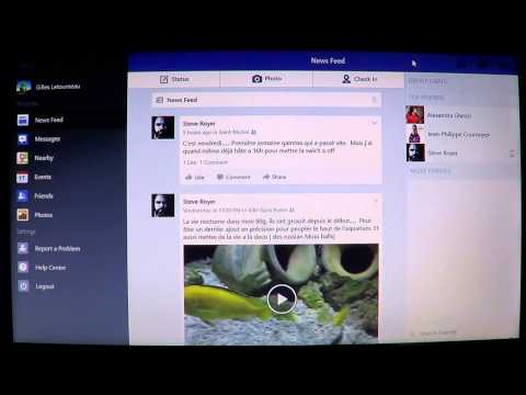 Windows 8.1 official facebook app review