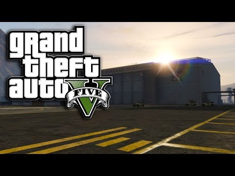 GTA 5 - Cloaked/Invisible UFO Inside of Fort Zancudo
