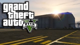 GTA 5 Cloaked/Invisible UFO Inside Of Fort Zancudo