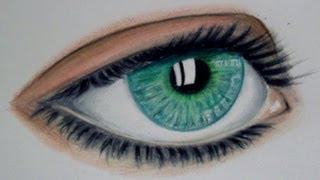 Dibujar un ojo con colores simples