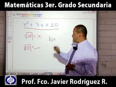 ODA Matemáticas, Secundaria Tercer Grado. Factorización de Trinomios no perfectos