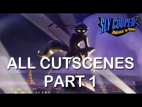 "Sly Cooper Thieves in time All cutscenes part 1 PS3 PS Vita HD ""sly cooper 4 all cutscenes"""