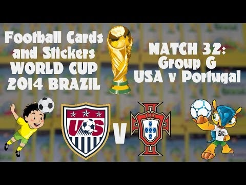 FOOTBALL CARDS & STICKERS WORLD CUP 2014 ☆ MATCH32 USA v PORTUGAL