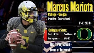 2015 NFL Draft Profile: Marcus Mariota Strengths And