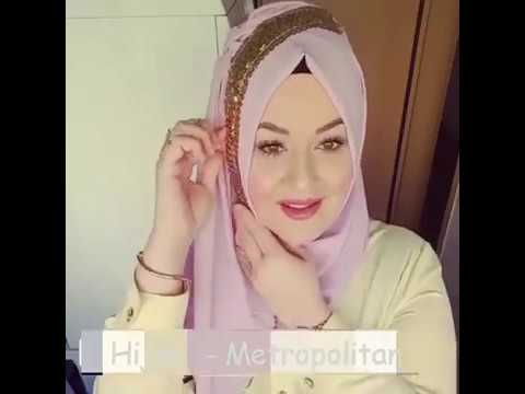 Cara Memakai Jilbab Untuk Wajah Bulat # 10