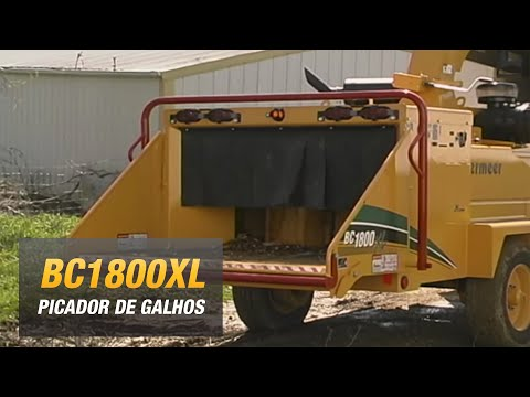 BC1800XL Vermeer, picador de madeira, galhos, troncos, triturador de arvores
