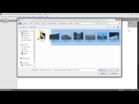 PHP File Based Image Gallery: Styling (1/3) - YouTube