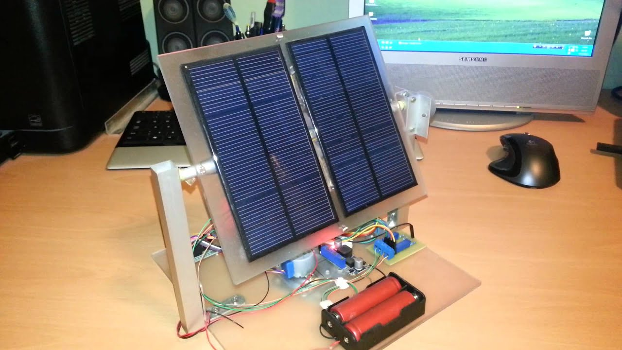 Arduino based quot sunflower robot dual axis solar tracker