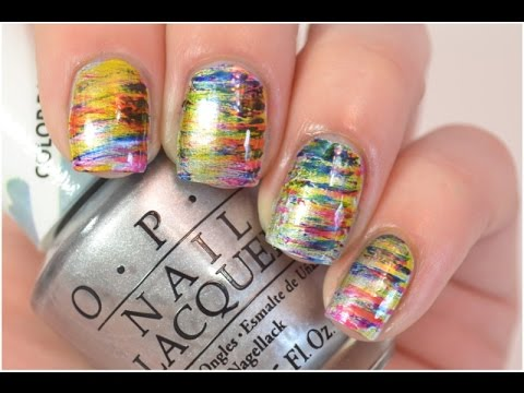 Fan Brush Nail Art Tutorial | OPI Color Paints