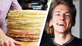 100-Layer Giant Crepe Cake Challenge: Behind Tasty