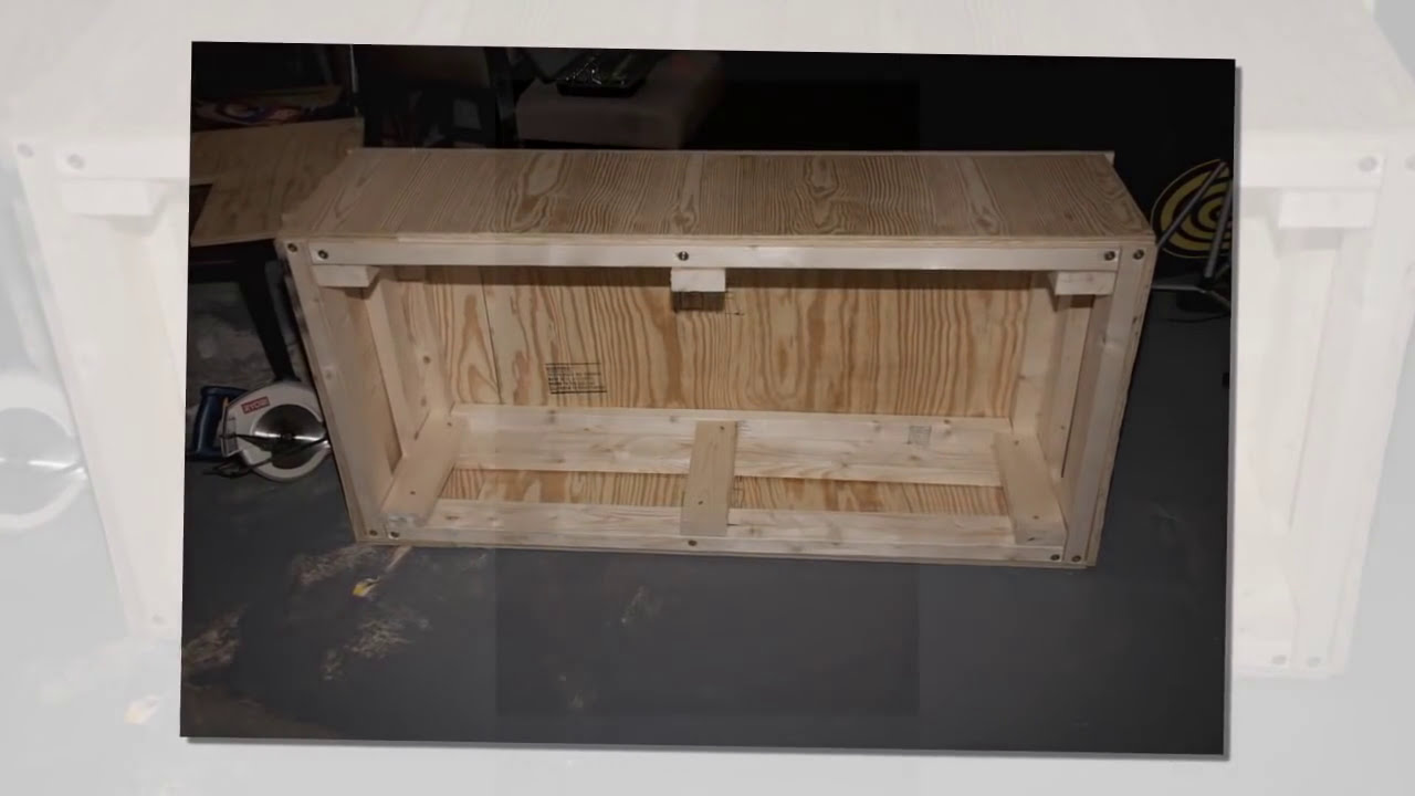 How to build a washer dryer pedestal stand box youtube for How to build a box stand